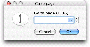 Dialog to go to a certain page.